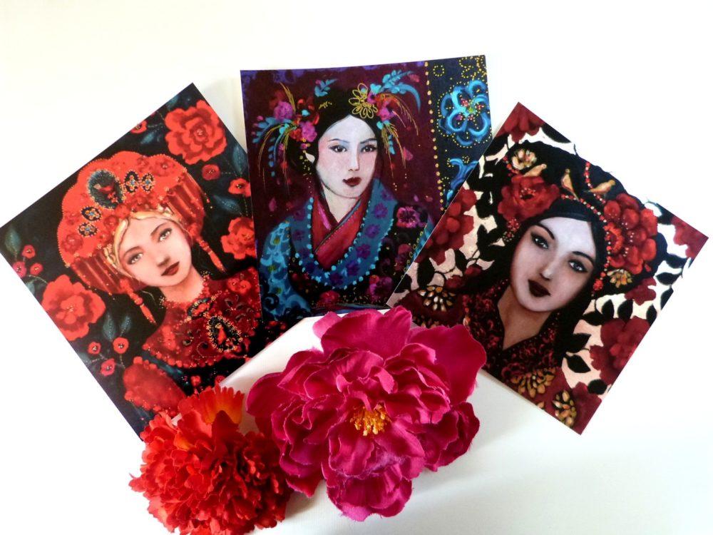 Cartes postales femmes, voyages