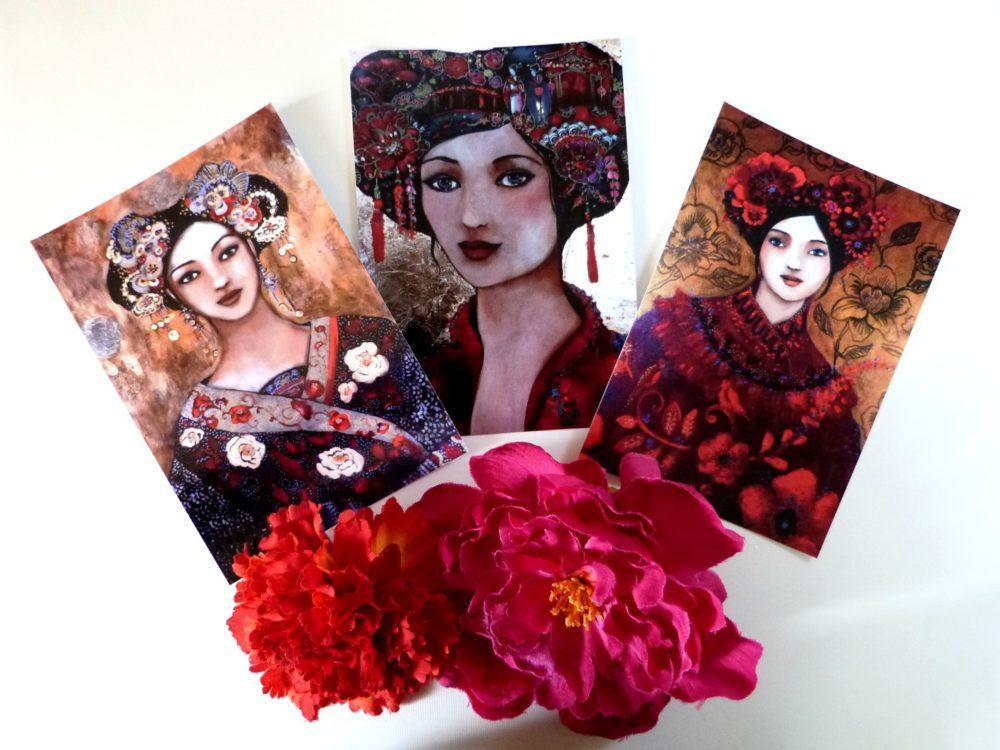 Cartes postales femmes bohèmes
