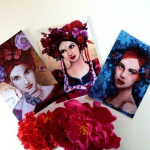 Cartes postales femmes bohèmes russes