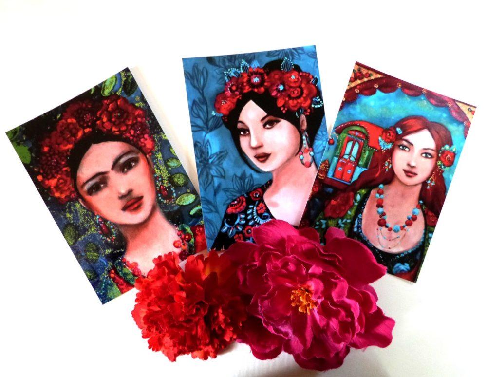 Cartes postales bohèmes