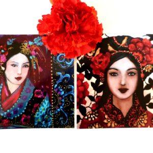 Cartes postales femmes d'asie