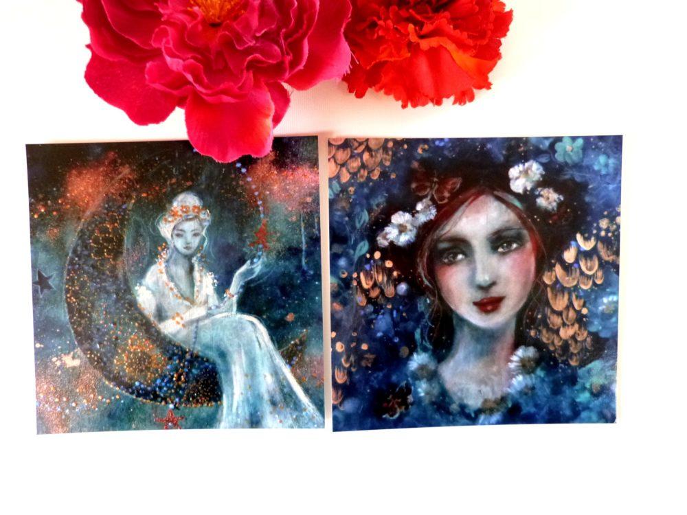 Cartes postales femmes poétiques