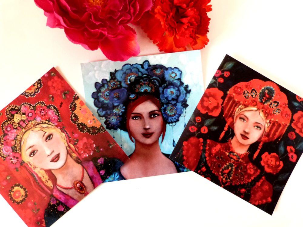 Cartes postales femmes russes