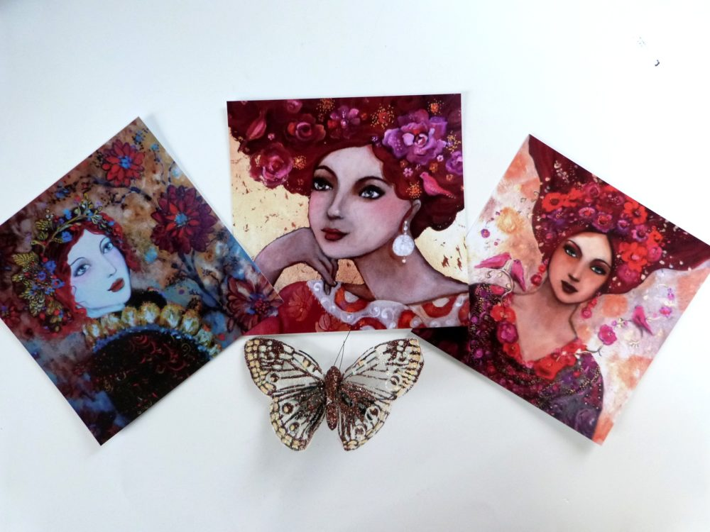 Cartes postales portrait de femmes bohèmes