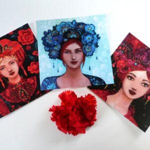 Cartes postales femmes russes.